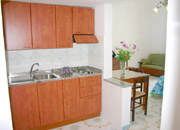 Kitchen of Colomba apartment at Positano centre