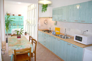 The kitchen of Letizia apartment in Sorrento center