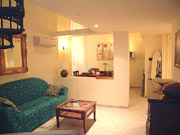 Rome Apartment Rental: Living-room with sofa-bed of Tritone Type D Rental Apartment in Rome