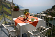 Stunning sea-view from Carla Apartment n.9 in Positano