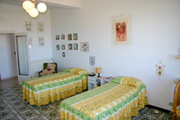 Apartment in Sorrento: The Bedroom with two single beds of Chiara Apartment in Sorrento