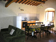 Apartment in Florence: Kitchen with table and chairs of Torretta Apartment