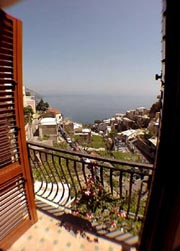 Dwelling in Positano: Sea-view from the small terrace of Ludovica Type C Dwelling in Positano