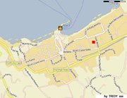 Sorrento House : The red square shows the exact location of Mamma's House in the center of Sorrento