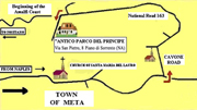 Lodging in Positano: Map to reach the Residence and Vicalvano Type C Lodging in Positano