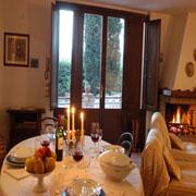 Stanza vivente del Casa Perugino