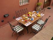 Terrazzo esterno con pranzare le facilità del Casa Perugino
