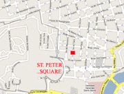 The exact location in Rome of the Bed & Breakfast San Pietro
