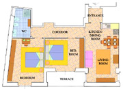 Apartments Florence Italy: Map of Bonciani Apartment in Florence Italy