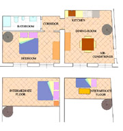Florence Vacation Rental: Map of Benozzo Vacation Apartment in Florence