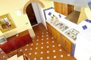 Florence Vacation Rental: Kitchen of Benozzo Vacation Apartment in Florence