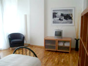 Florence Apartment: Bedroom with TV of Villani Apartment in Florence