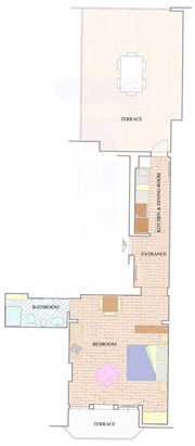 Florence Apartment: Map of Villani Apartment in Florence