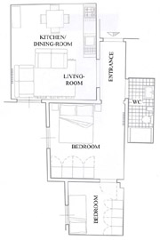 Tuscany Vacation Rental: Map of Latini Rental Apartment in Florence