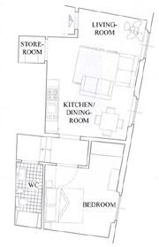 Suite Florenz Toskana: Plan der Suite Uccello in Florenz