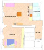 Unterkunft in Florenz: Plan der Unterkunft Donzella in Florenz