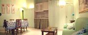 Rom Unterkunft: Esszimmer mit Kochecke der Unterkunft Tritone Typ B in Rom