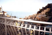 Amalfi Coast Accommodation: Sea-view from the small terrace of Ludovica Type D Accommodation along the Amalfi Coast