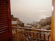 Apartment in Positano: Sea-view from the small terrace of Ludovica Type B Apartment in Positano