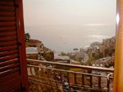 Ferienwohnung in Positano: Meersicht vom Balkon der Ferienwohnung Ludovica Typ B in Positano aus