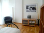 Florenz Ferienwohnung: Schlafzimmer mit TV der Ferienwohnung Villani in Florenz