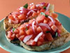 BRUSCHETTA - Speciality with tomatoes of Naples